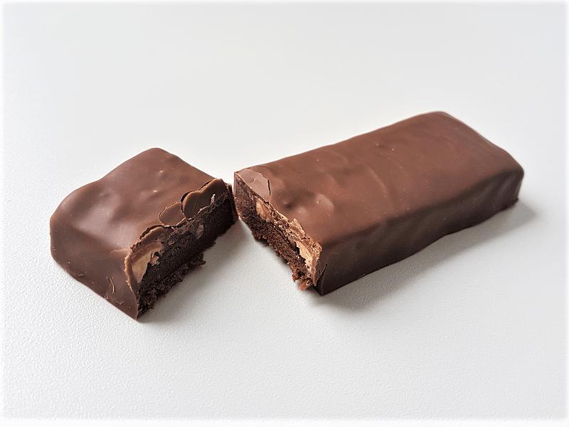Pinda en karamel proteïne reep