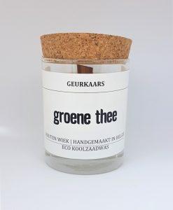 Geurkaars met heerlijke geur van groene thee