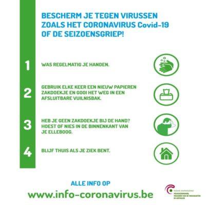 bescherm jezelf tegen het coronavirus