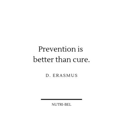 voorkomen is beter dan genezen , dat geloven wij ook bij Nutri-Bel